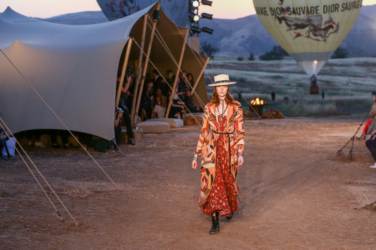 Dior's Cruise 2018 runway show in the Santa Monica Mountains in May 2017. Photo: Rich Fury/Getty Images
