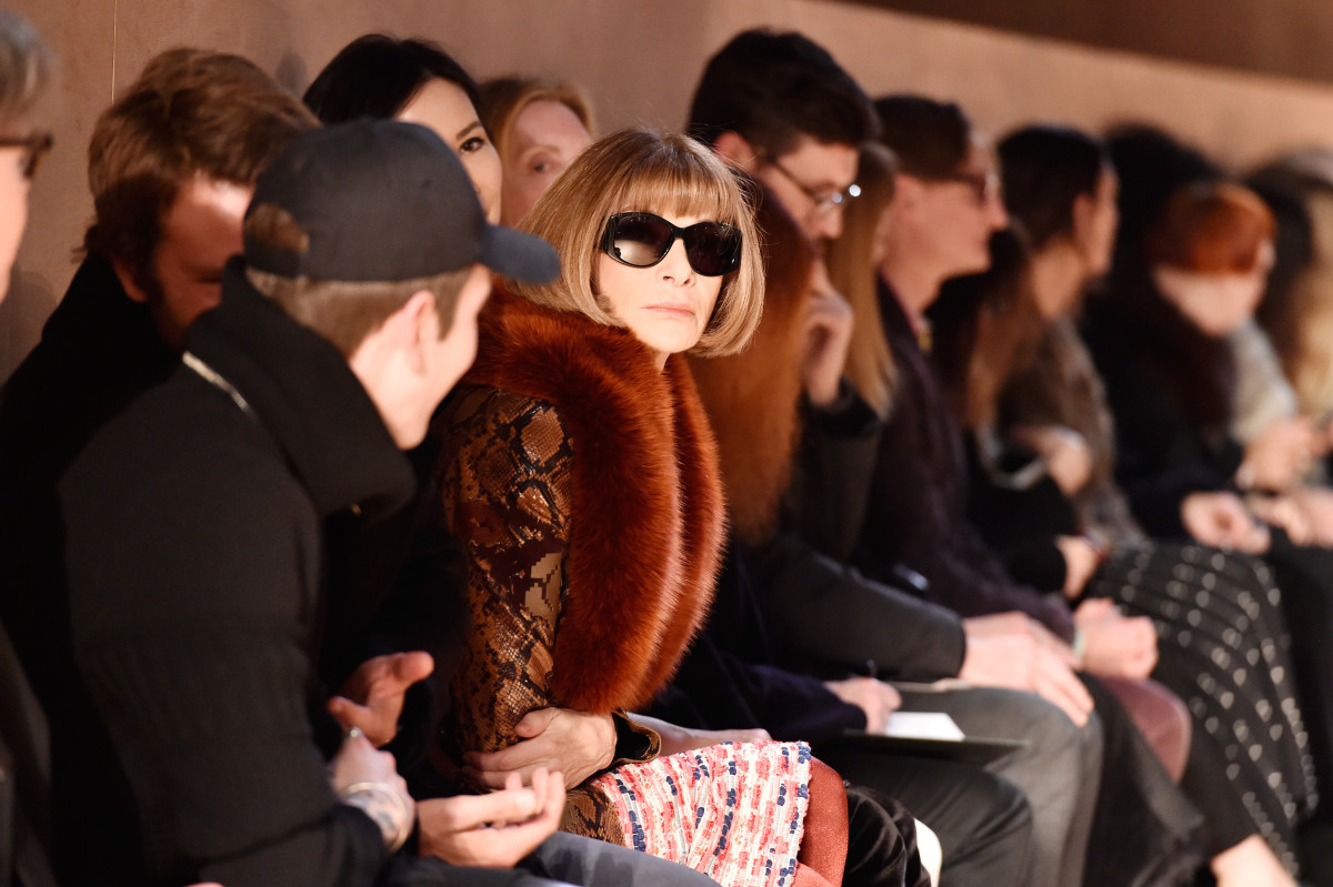 Anna Wintour at the Fall 2017 Givenchy show. Photo: Pascal Le Segretain/Getty Images