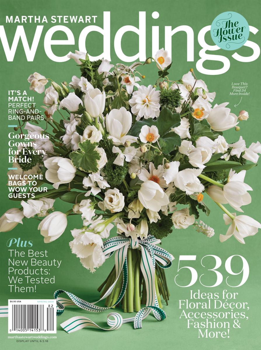 'Martha Stewart Weddings' spring 2018 cover. Photo: courtesy