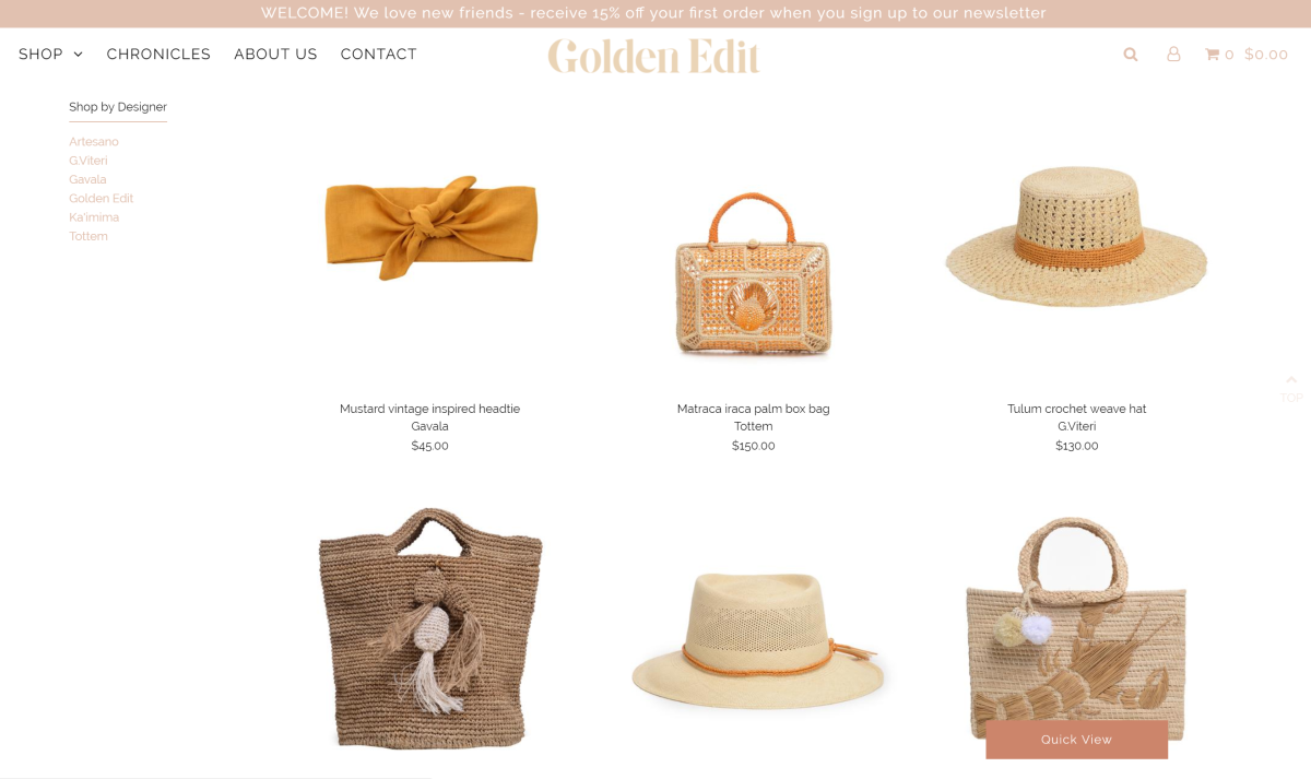 A screenshot of Golden Edit's selection. Photo: Courtesy Golden Edit