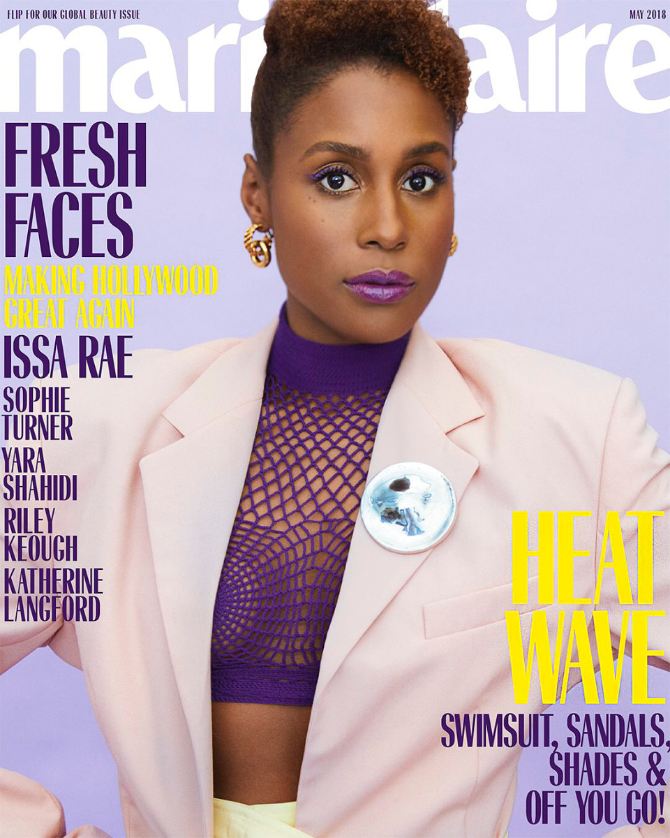 "Issa Rae on the cover of ""Marie Claire'""s May ""Fresh Faces"" issue. Photo: Erik Madigan Heck"