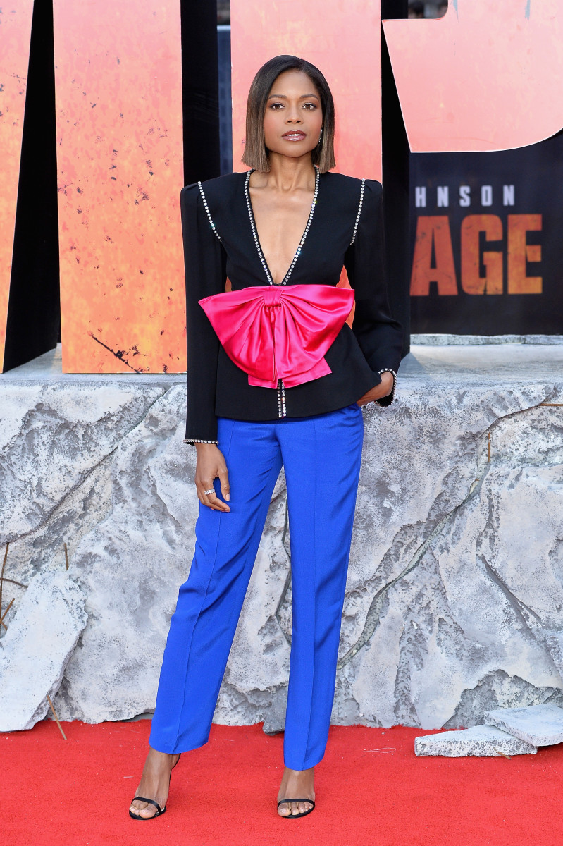 "Naomie Harris at the European premiere of ""Rampage"" in London. Photo: Jeff Spicer/Getty Images"