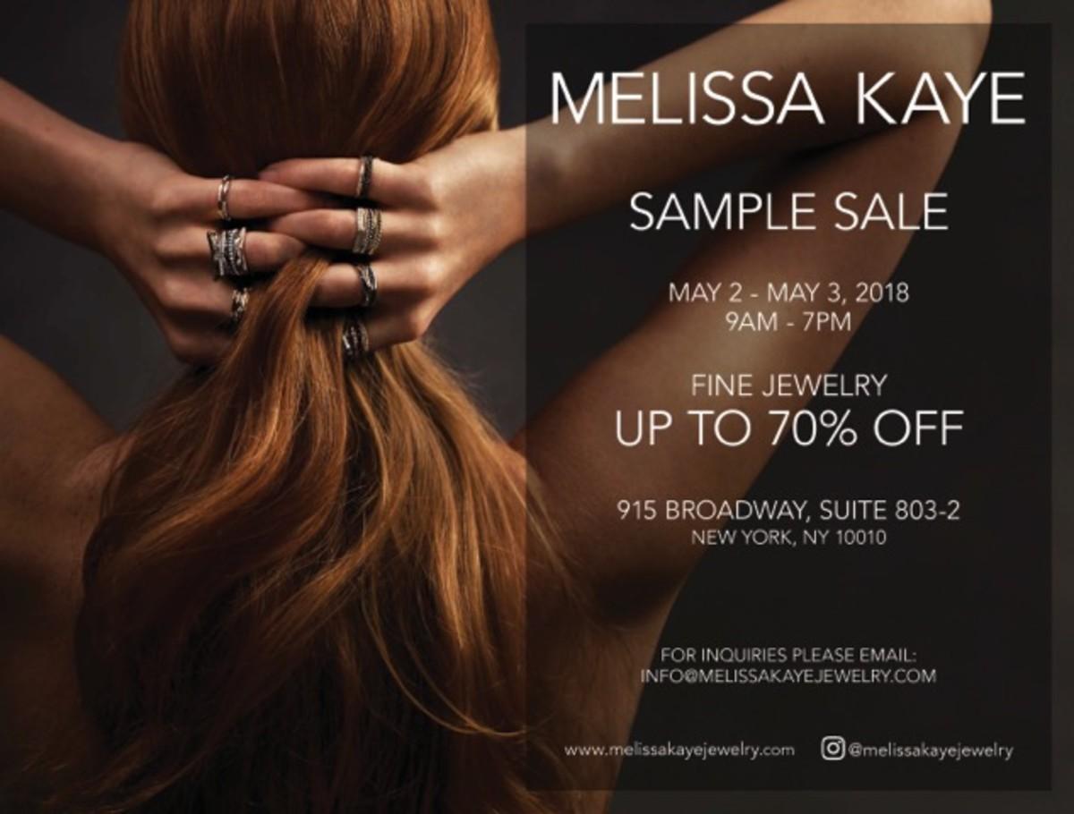 Melissa Kaye Sample Sale May 2018