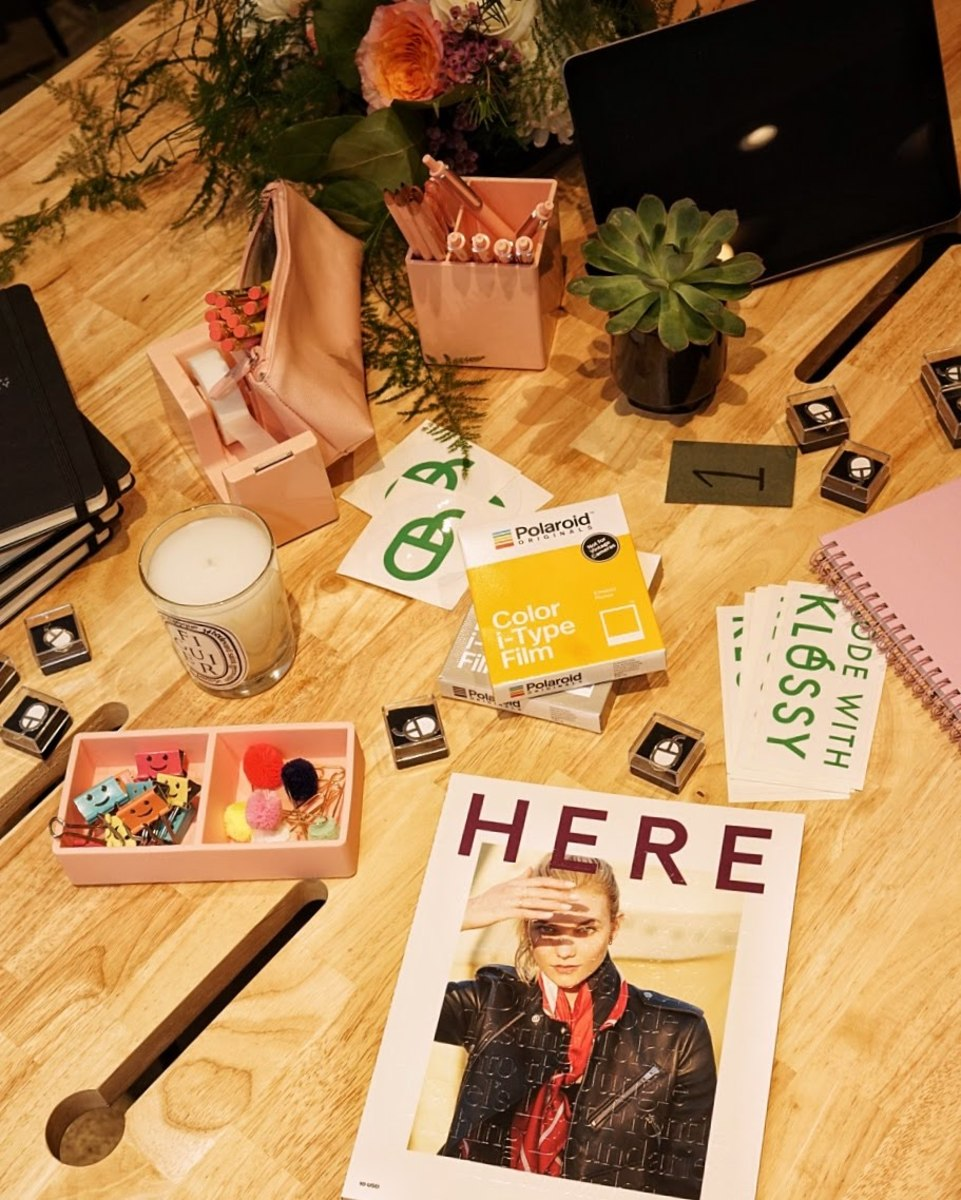 Our cute coding station at Away's Kode With Klossy event. Photo: Away