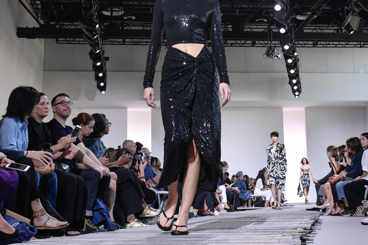 A look from Michael Kors's Spring 2018 runway show during New York Fashion Week. Photo: Peter White/FilmMagic