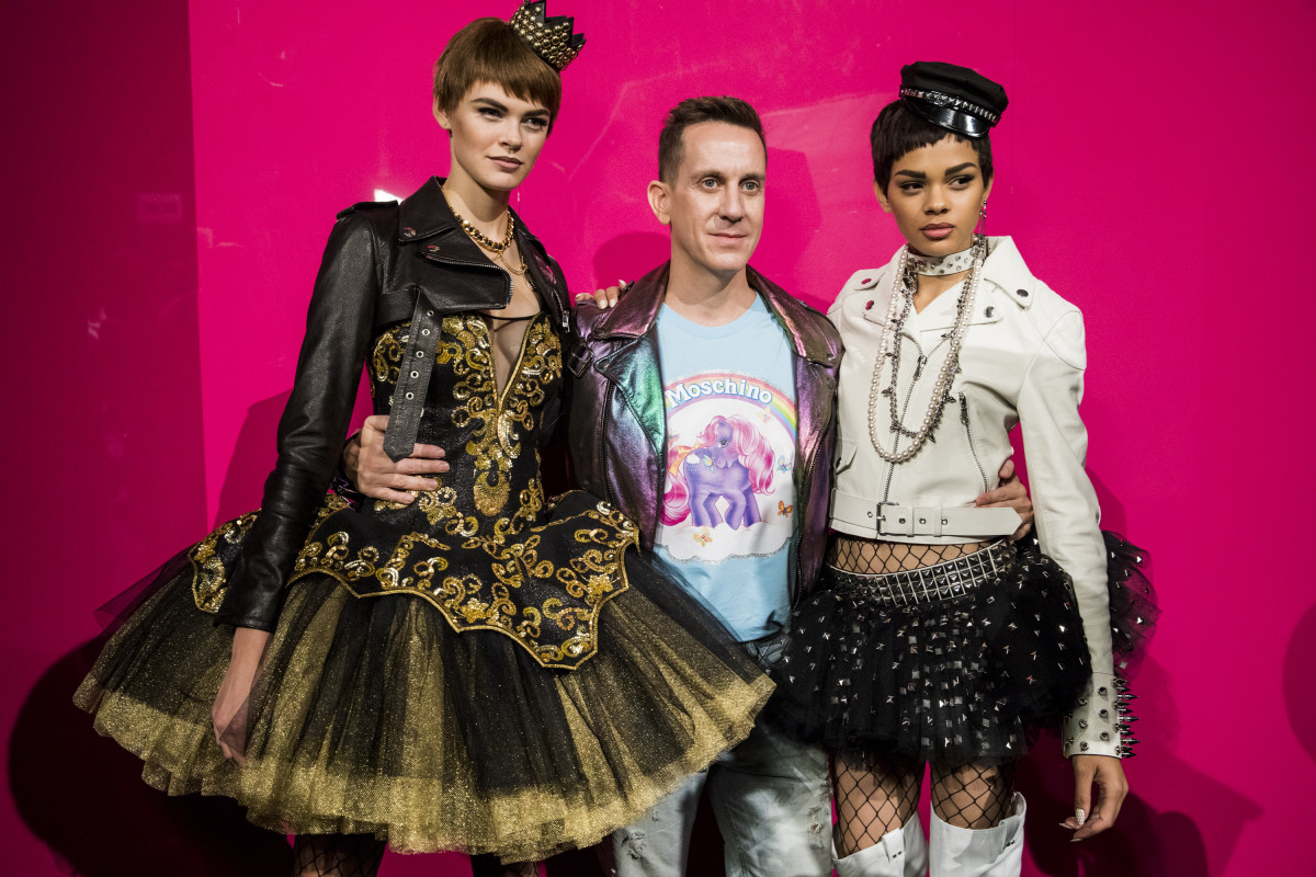 Jeremy Scott backstage at Moschino's Spring 2018 runway. Photo: Tristan Fewings/Getty Images