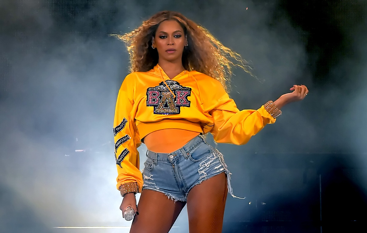 Beyoncé in Balmain at Coachella. Photo: Kevin Winter/Getty Images