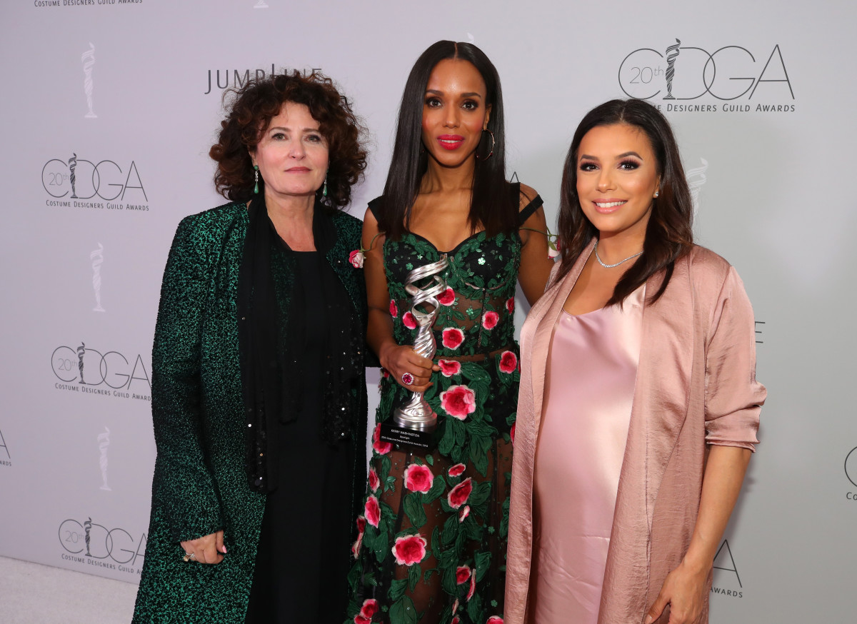 Lyn Paolo, Kerry Washington and Eva Longoria at the 2018 Costume Designers Guild Awards. Photo: Christopher Polk/Getty Images for JumpLine