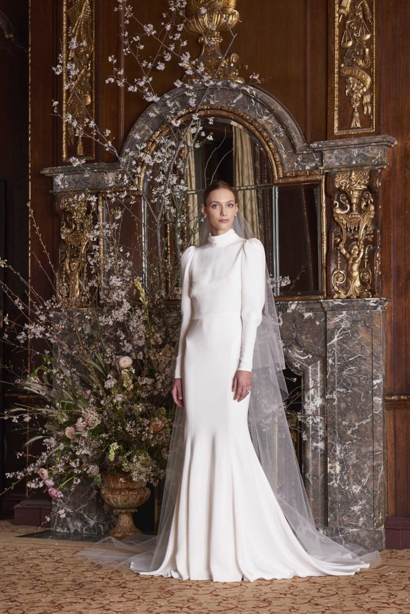 A look from Monique Lhuillier's Spring 2019 bridal collection. Photo:Greg Kessler for Kessler Studio