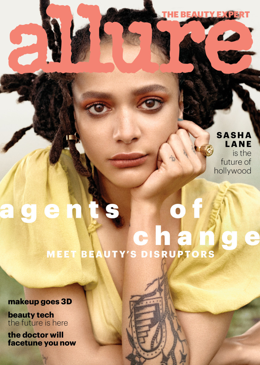 "Sasha Lane on the ""Allure""'s 2018 Disrupters issue. Photo: Scott Trindle"