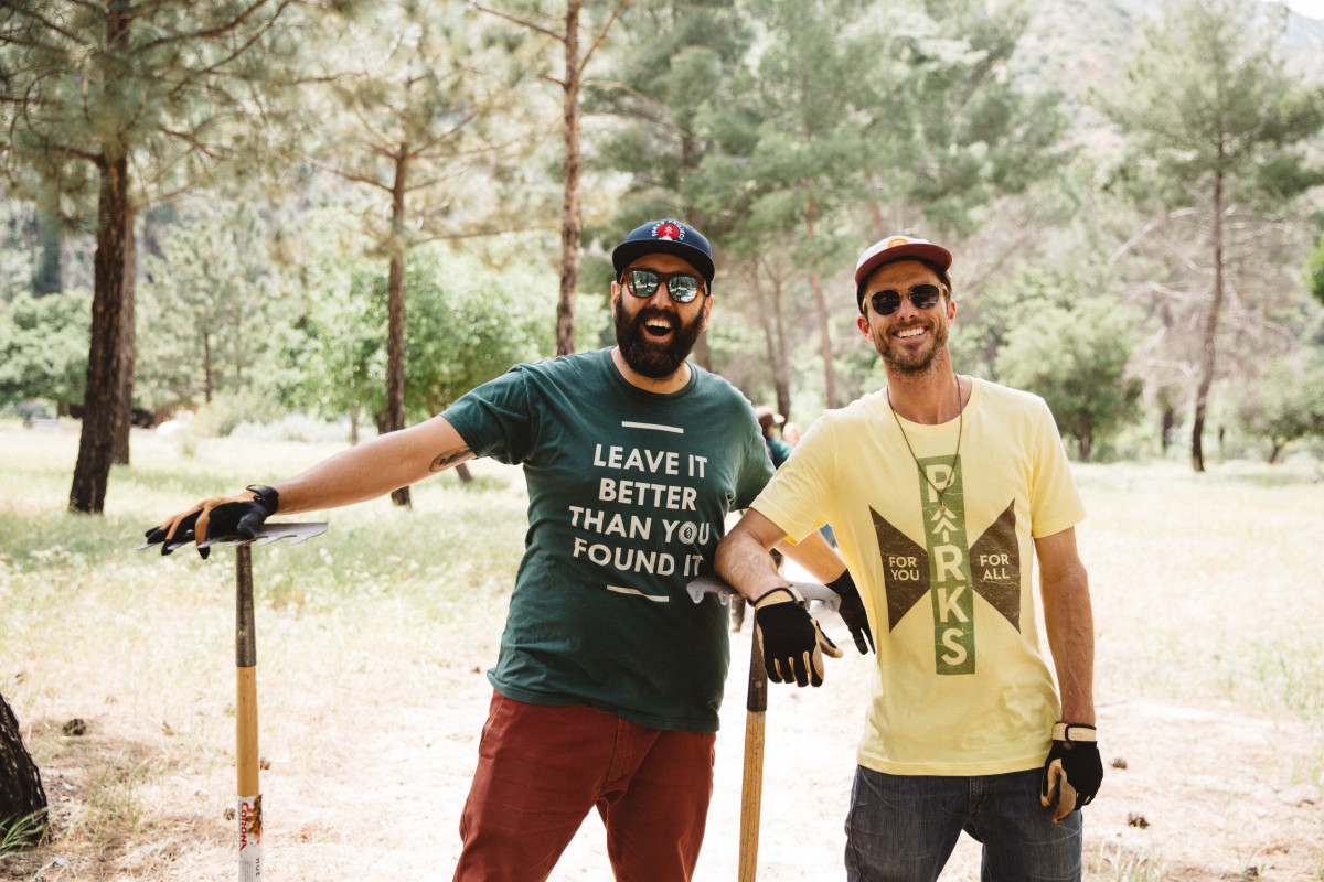 Parks Project co-founders Sevag Kazanci andKeith Eshelman during a volunteer day. Photo: Courtesy of Parks Project