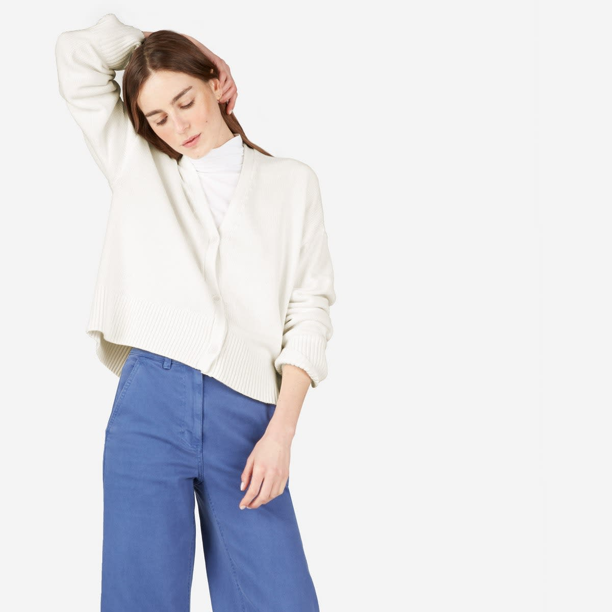 Soft Cotton Square Cardigan, $88, available at Everlane.