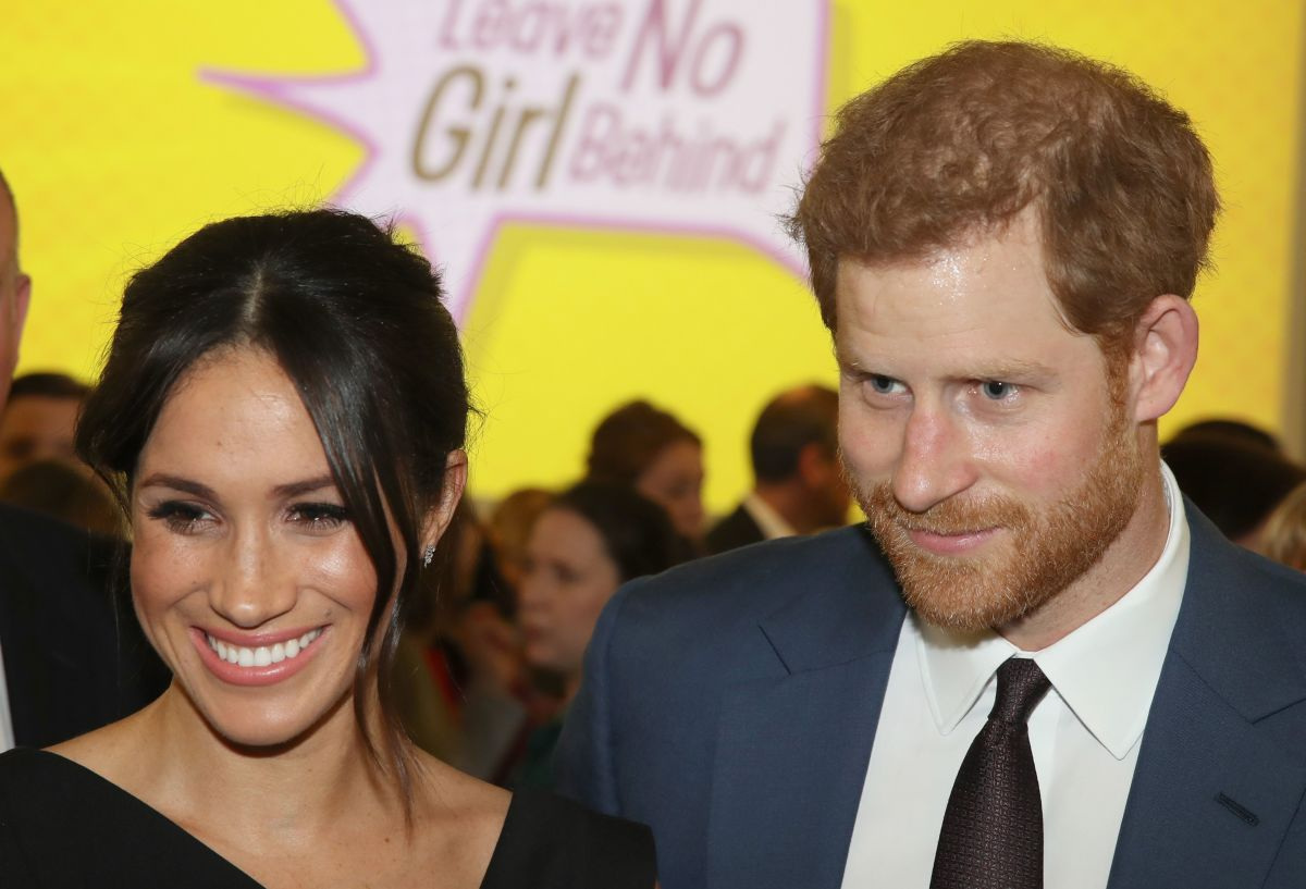 Meghan Markle and Prince Harry at a Commonwealth reception for female empowerment at the Royal Aeronautical Society in London on Thursday. Photo: Chris Jackson/AFP/Getty Images