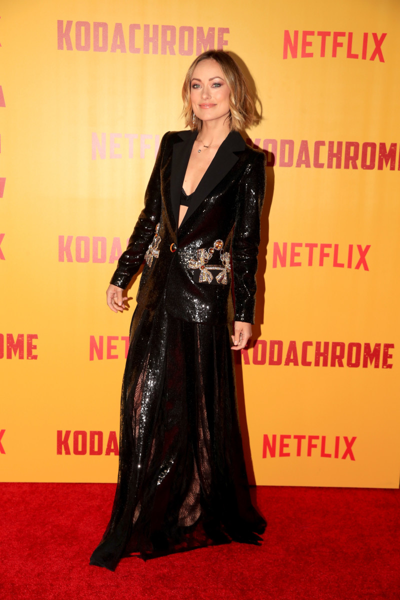 """Olivia Wilde in Elie Saabat the premiere of """"Kodachrome"""" in Hollywood. Photo: Christopher Polk/Getty Images"""