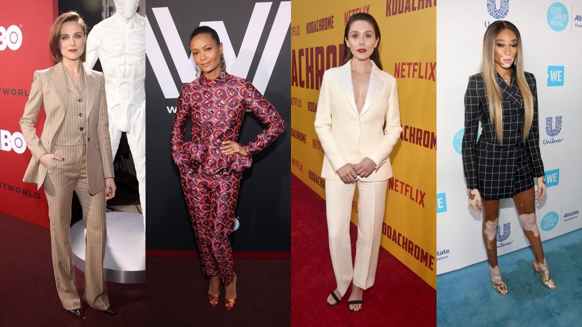Evan Rachel Wood, Thandie Newton, Elizabeth Olsen and Winnie Harlow. Photos: Getty Images