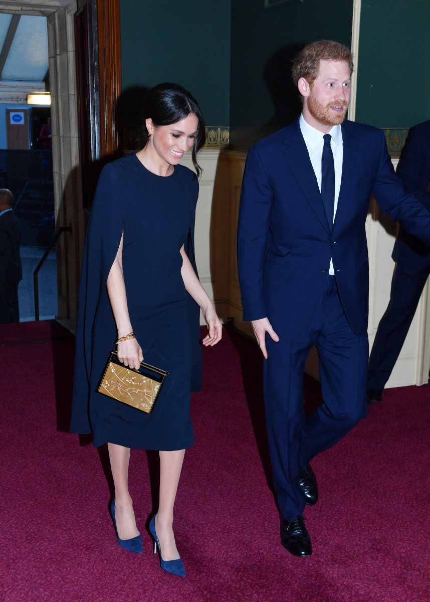 Meghan Markle in Stella McCartney and Prince Harry at the Queen's 92nd birthday in London. Photo: John Stillwell - WPA Pool/Getty Images