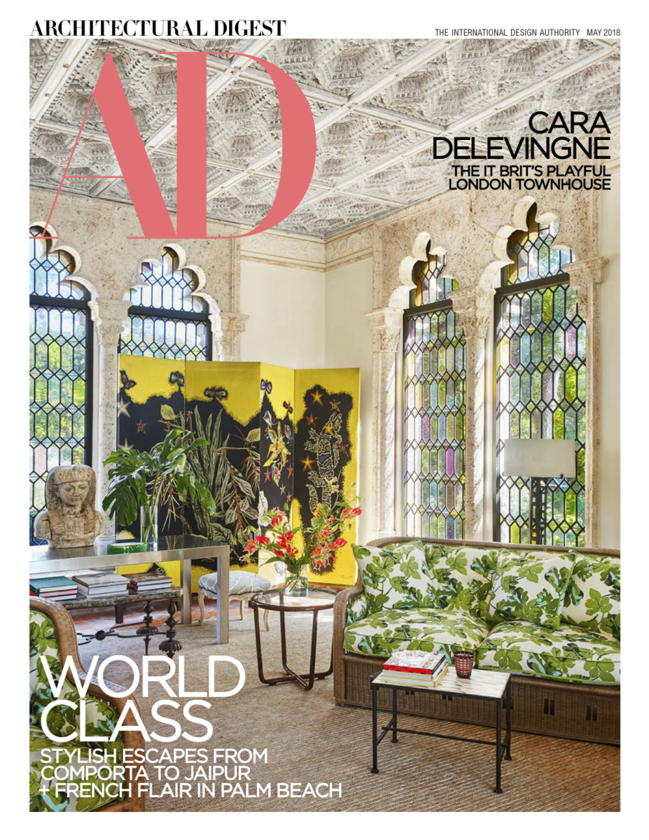 The May 2018 cover of 'Architectural Digest.' Photo: Architectural Digest