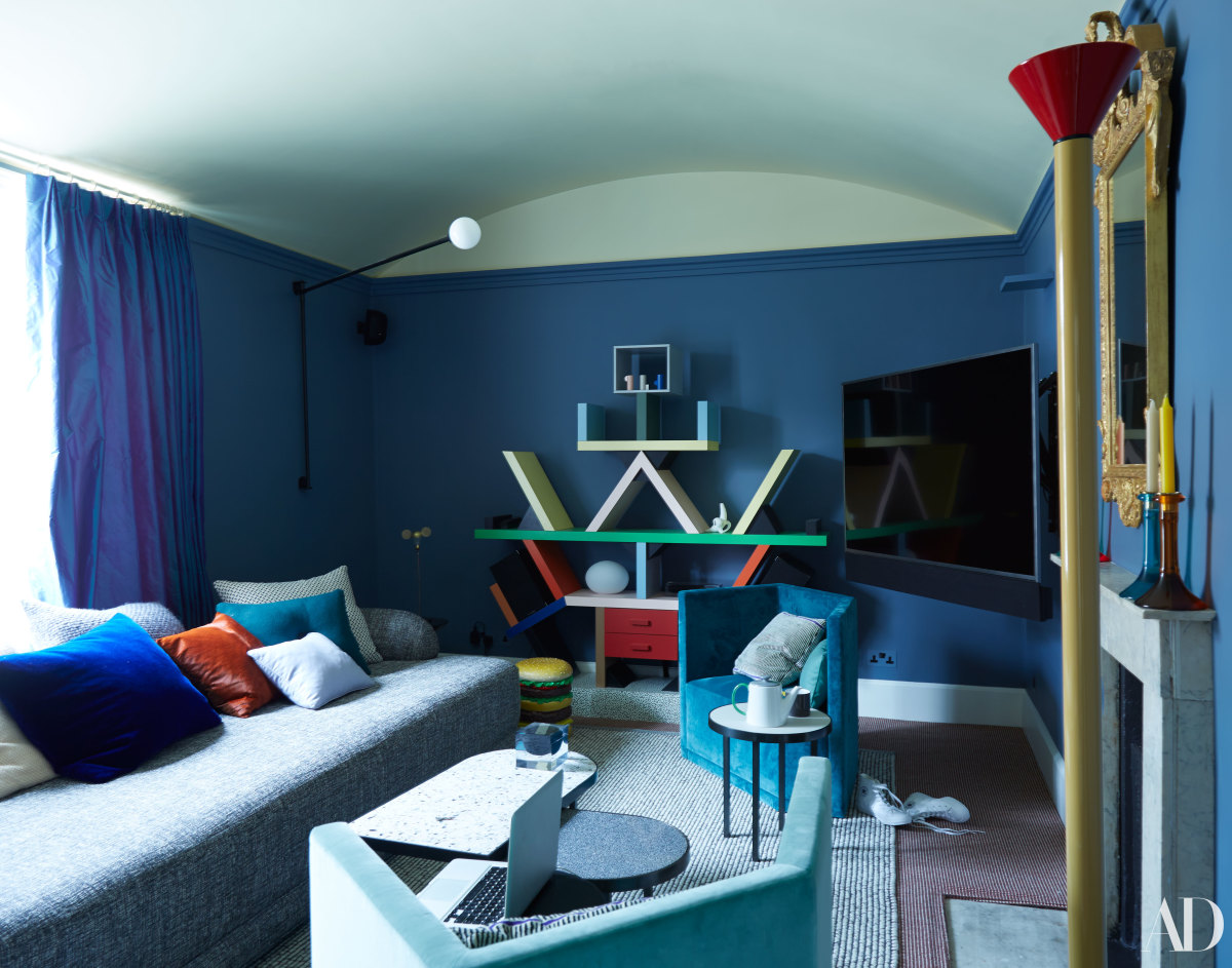 Cara Delevingne's drawing room. Photo: Skyler Smith/Architectural Digest