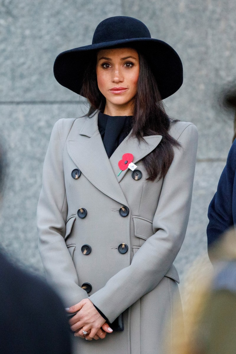 Meghan Markle attends an Anzac Day dawn service at Hyde Park Corner in London. Photo: Tolga Akmen/WPA Pool/Getty Images