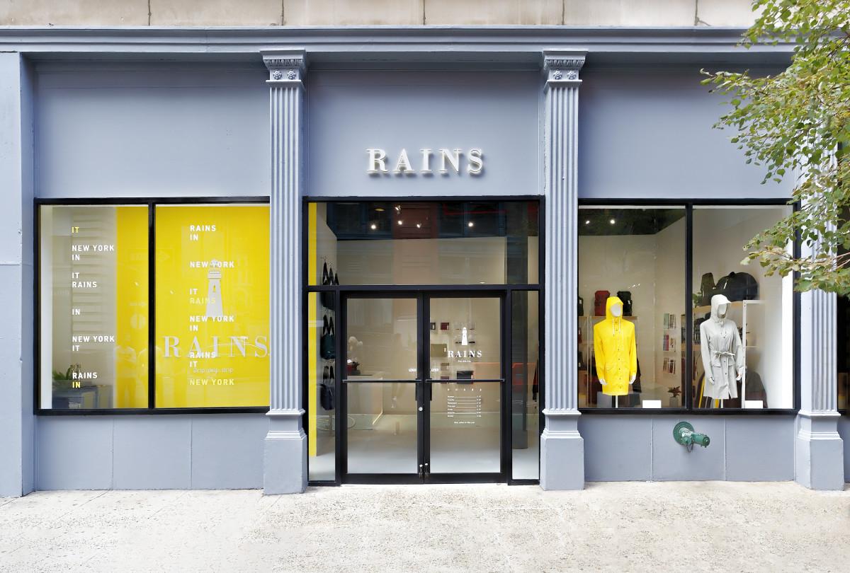 Rains' storefront in SoHo. Photo: Courtesy of Rains