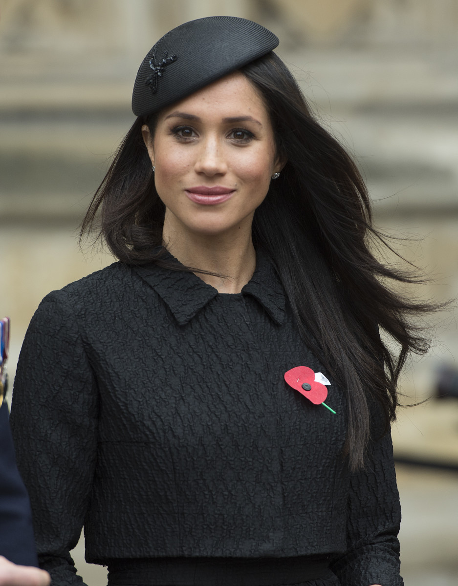 Meghan Markle at an Anzac Day service at Westminster Abbey. Photo: Eddie Mulholland - WPA Pool/Getty Images