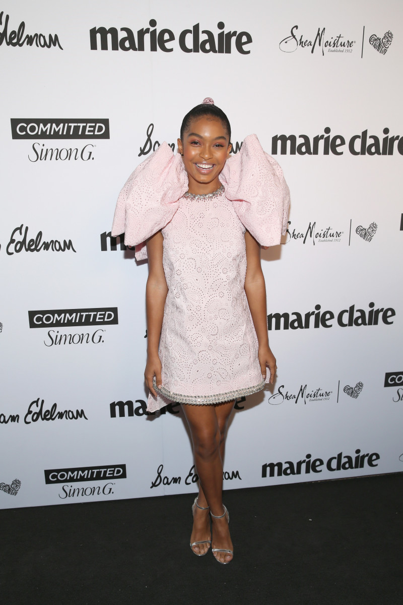 Yara Shahidi at Marie Claire's fifth annual 'Fresh Faces' event in Hollywood with SheaMoisture, Simon G. and Sam Edelman. Photo: Getty Images for Marie Claire