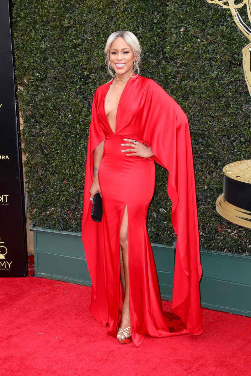 Eve in Christian Siriano at the 2018 Daytime Emmy Awards in Pasadena, Calif. on Sunday. Photo: David Livingston/Getty Images