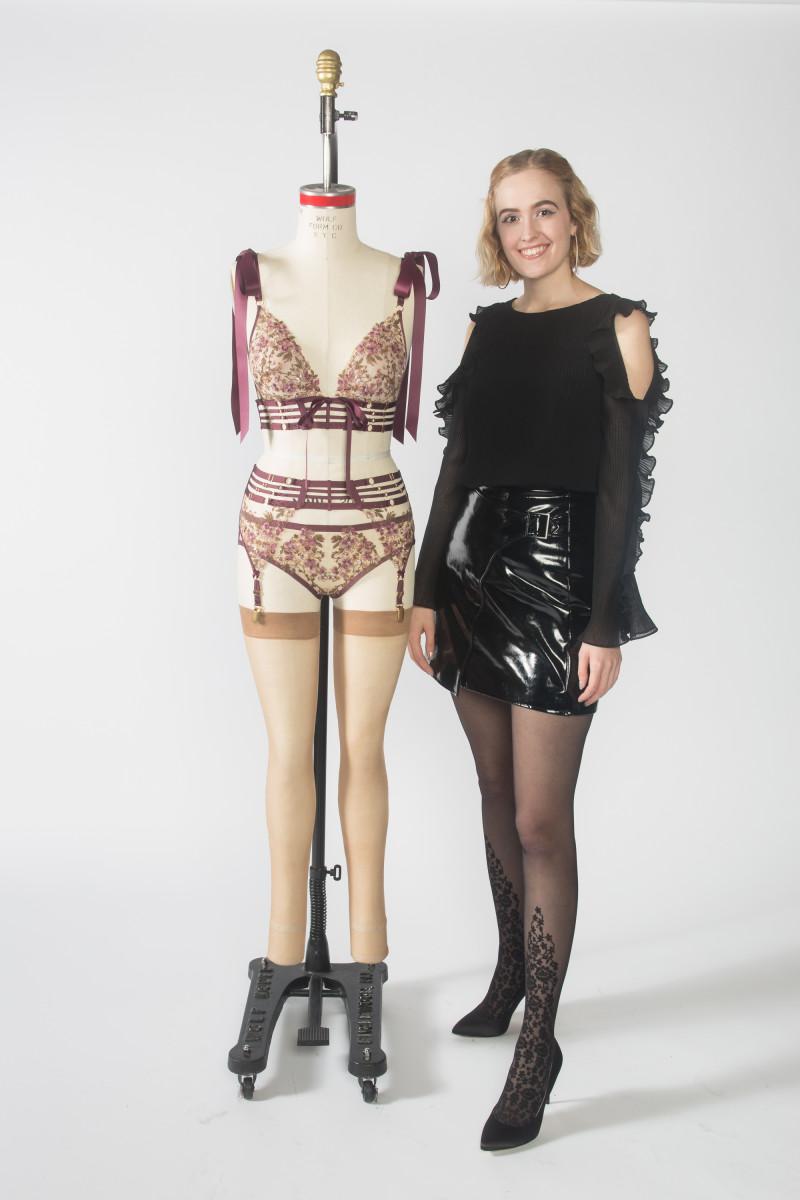 Kaitlin Barton,lingerie design student,FIT '18. Photo: FIT