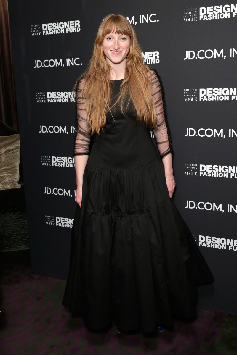 Molly Goddard at the British Fashion Council Vogue Party at The Mandrake Hotel in London. Photo:John Phillips/Getty Images