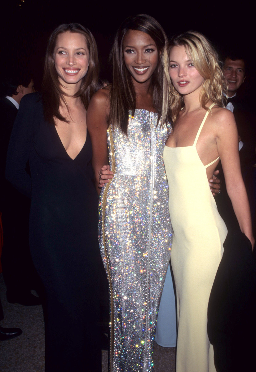 Christy Turlington Burns, Naomi Campbell and Kate Moss at the 1995 Met Gala. Photo: Kevin Mazur Archive/WireImage