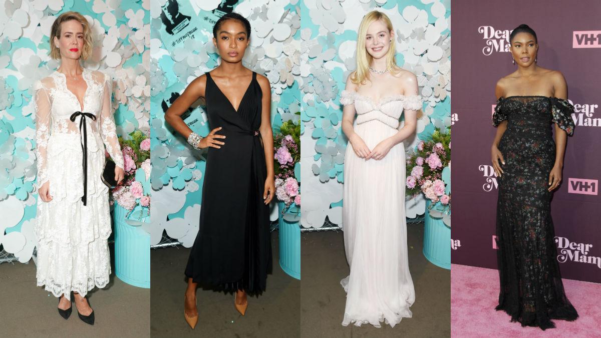 Sarah Paulson, Yara Shahidi, Elle Fanning, Gabrielle Union. Photos: Getty Images