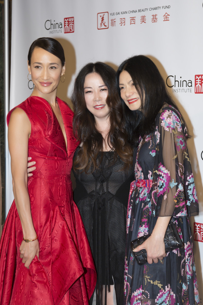 Maggie Q, Grace Chen and Vivienne Tam at the China Fashion Gala. Photo: Courtesy