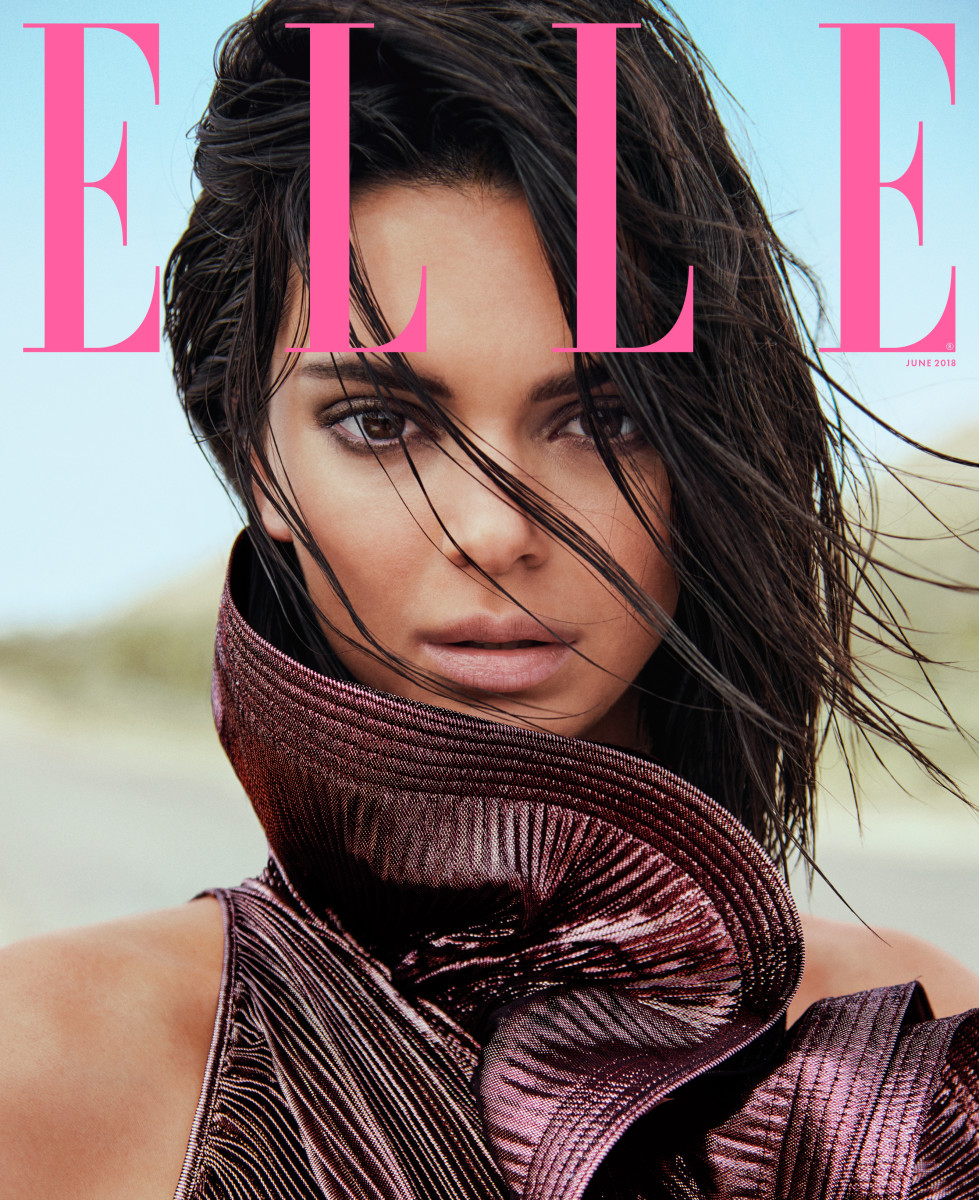 "Kendall Jenner on the June cover of ""Elle."" Photo: Chris Colls"