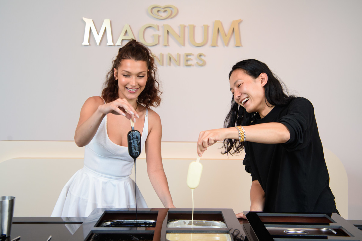 Bella Hadid for Magnum x Alexander Wang in Cannes. Photo: Magnum Ice Cream