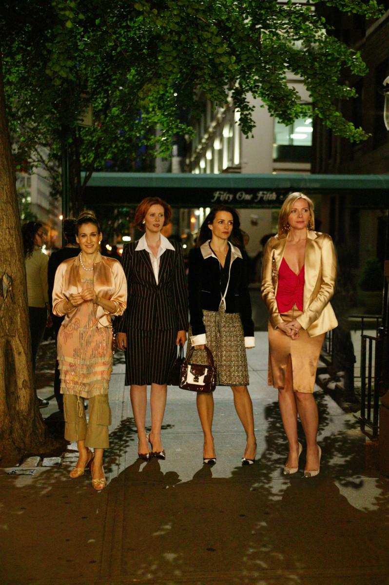 Carrie (Sarah Jessica Parker), Miranda (Cynthia Nixon), Charlotte (Kristin Davis) and Samantha (Kim Cattrall). Photo:Craig Blankenhorn/HBO
