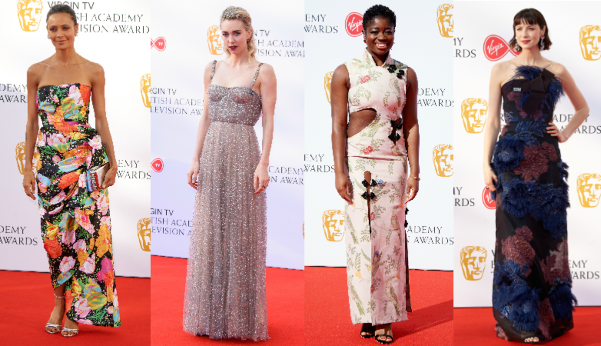 Thandie Newton, Vanessa Kirby, Clara Amfo and Caitriona Balfe. Photos: Getty Images
