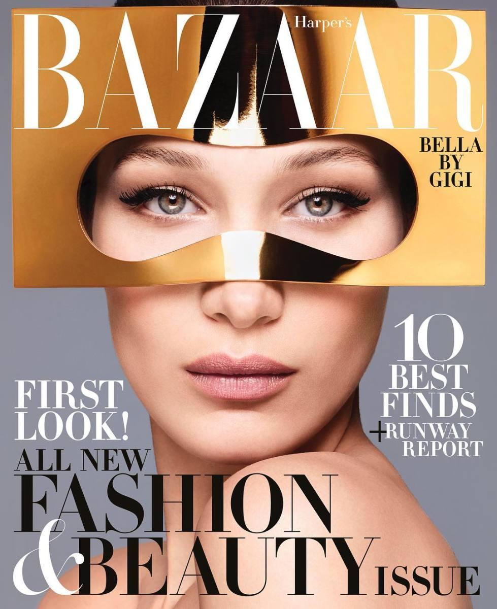 "Bella Hadid on the June/July 2018 cover of ""Harper's Bazaar. "" Photo:Sølve Sundsbø/""Harper's Bazaar"""