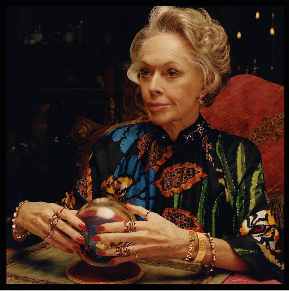 Tippi Hedren for Gucci. Photo: Colin Dodgson/Gucci