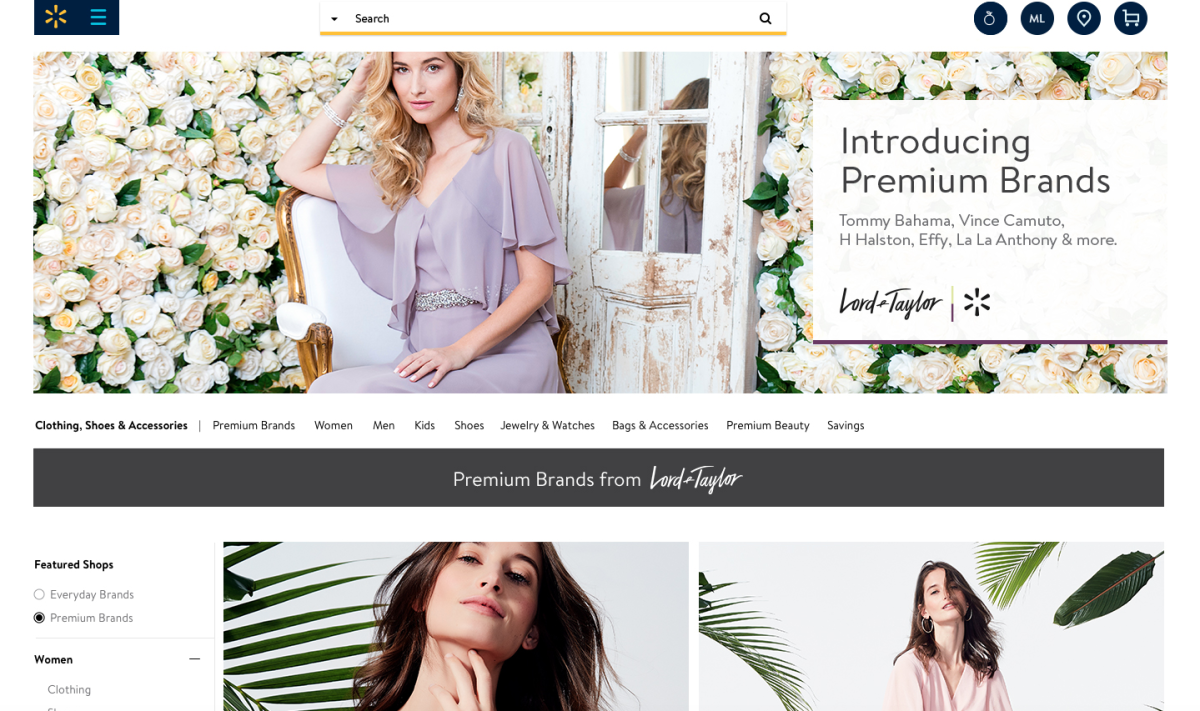 A preview of the new Lord & Taylor x Walmart site. Photo: Lord & Taylor