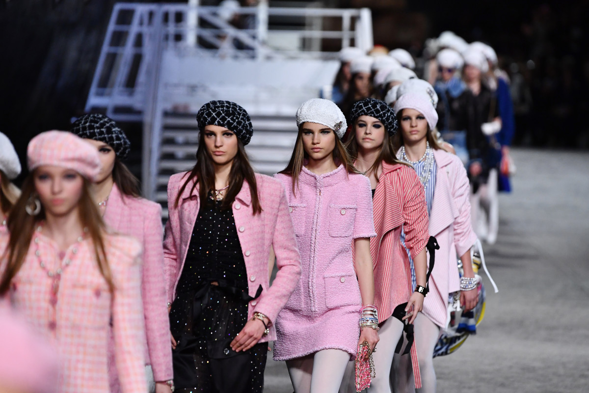 The finale of Chanel's Cruise 2019 runway show in Paris. Photo: Pascal Le Segretain/Getty Images