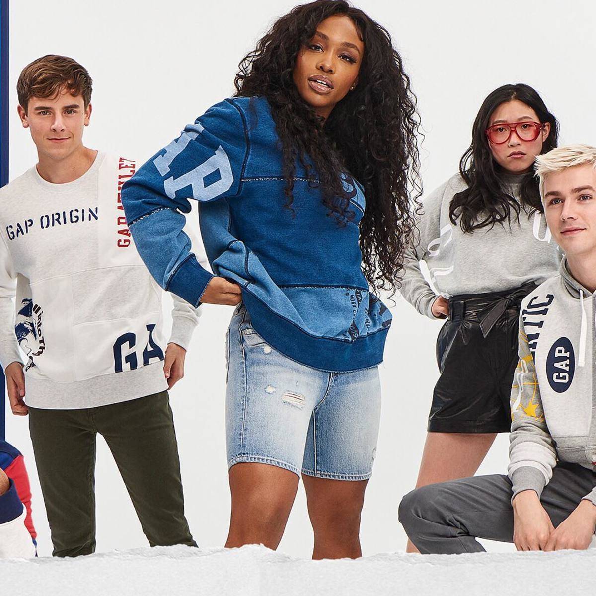 "SZA stars in the campaign for Gap's 2018 ""Logo Remix"" collection. Photo: @gap/Instagram"