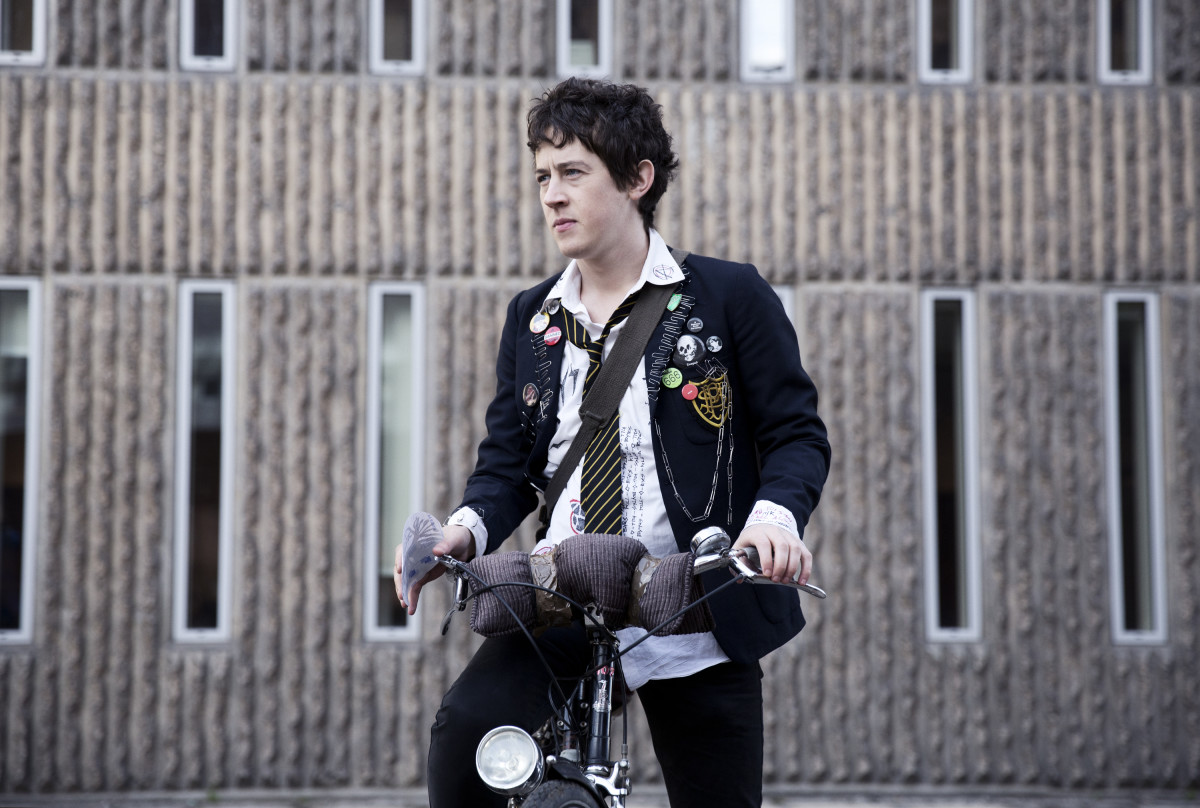 Enn (Alex Sharp) in his probably dress code-busting school uniform. Photo: Photo: Dean Rogers, courtesy of A24