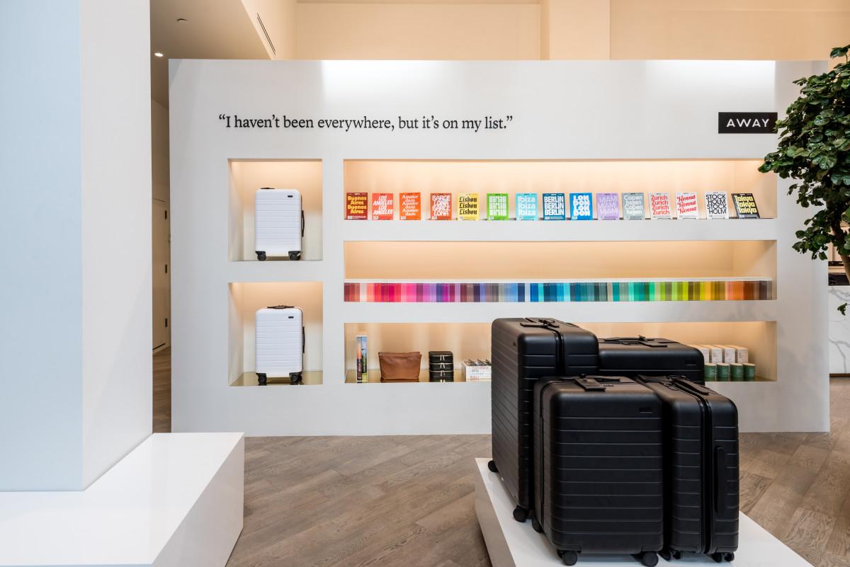 Inside Away's New York store on Bond St. Photo: Courtesy of Away