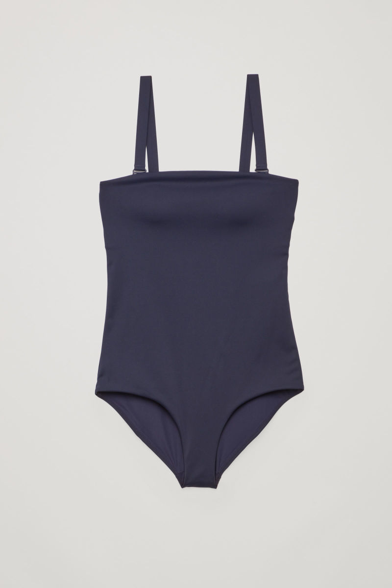 Cos swimsuit with removable straps, $69, available at Cos