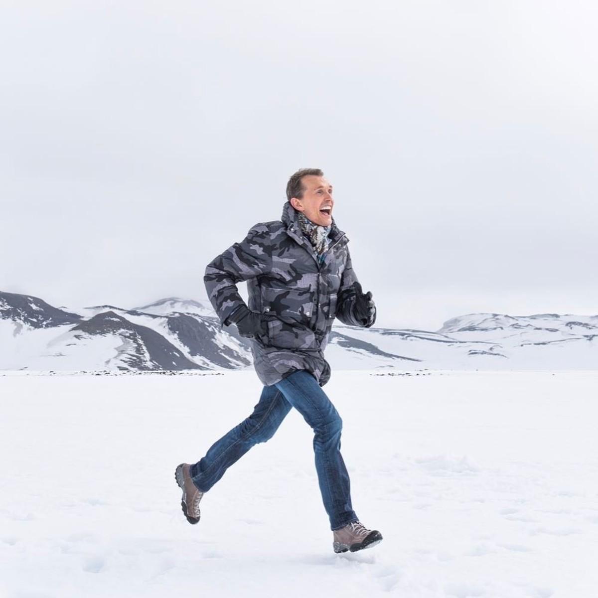 Henriksen during a trip to Iceland. Photo: @olehenriksen/Instagram