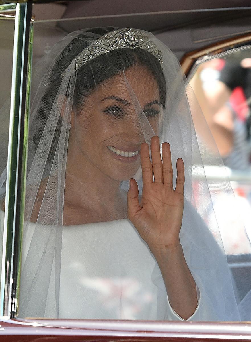 Meghan Markle arrives for her wedding ceremony. Photo: Oli Scarff/AFP/Getty Images