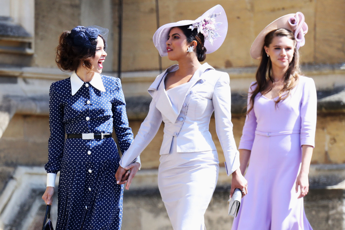 48c8eecc51154 Abigail Spencer and Priyanka Chopra in a Philip Treacy hat. Photo  Chris  Jackson