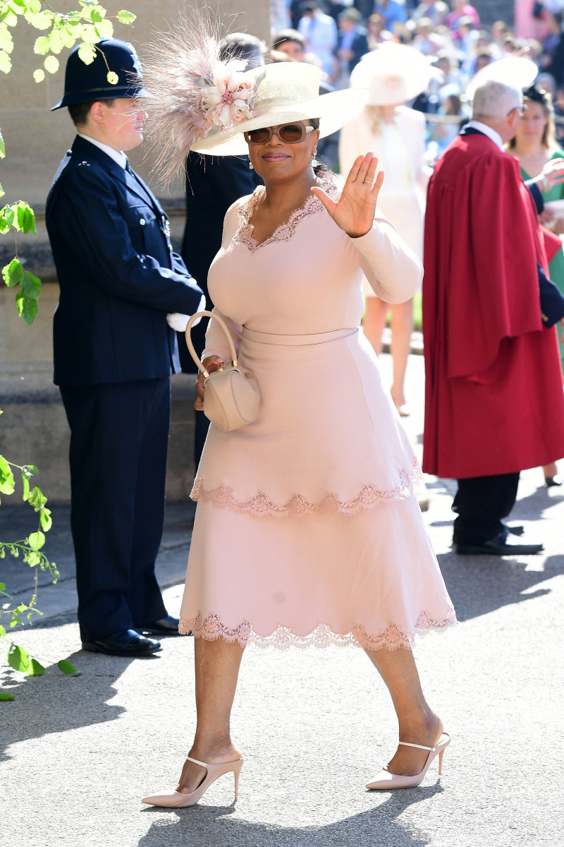 Oprah Winfrey at St George s Chapel at Windsor Castle before the wedding of Prince  Harry to d6abc554c874