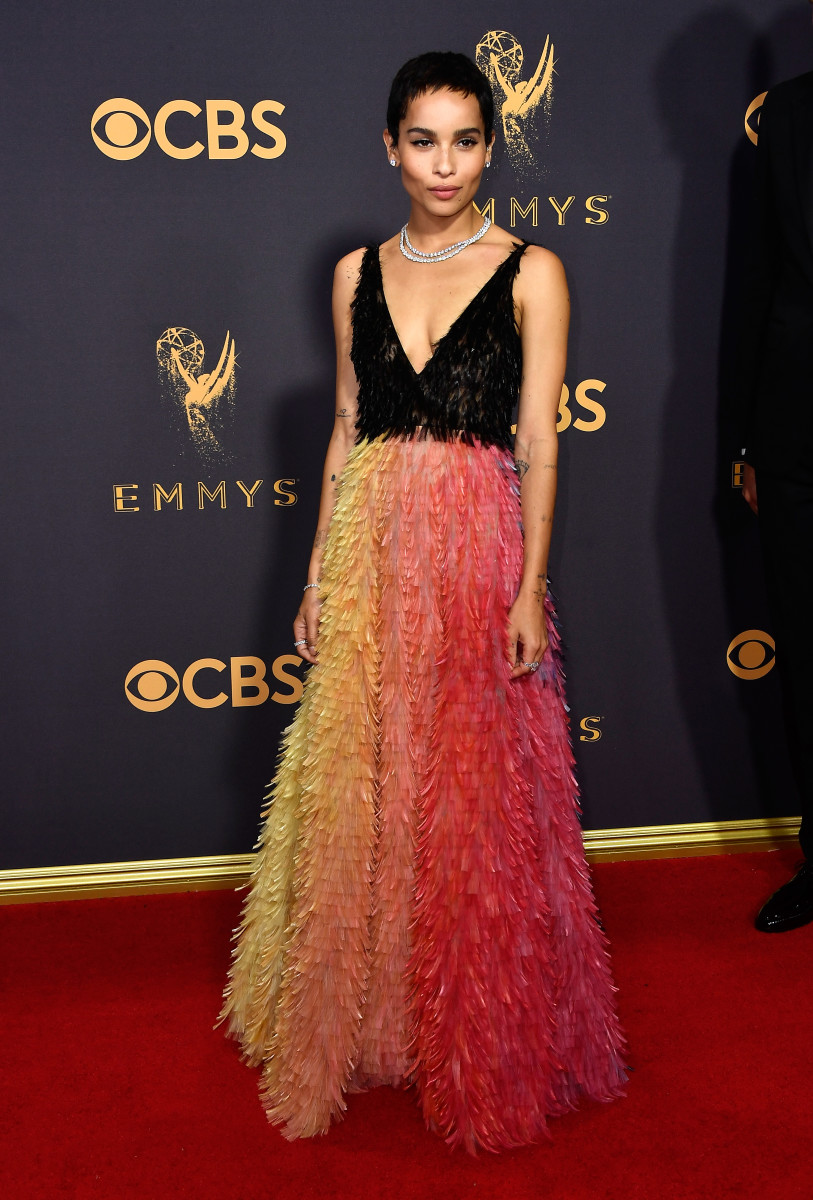 Zoë Kravitz at the 2017 Emmy Awards. Photo: Frazer Harrison/Getty Images
