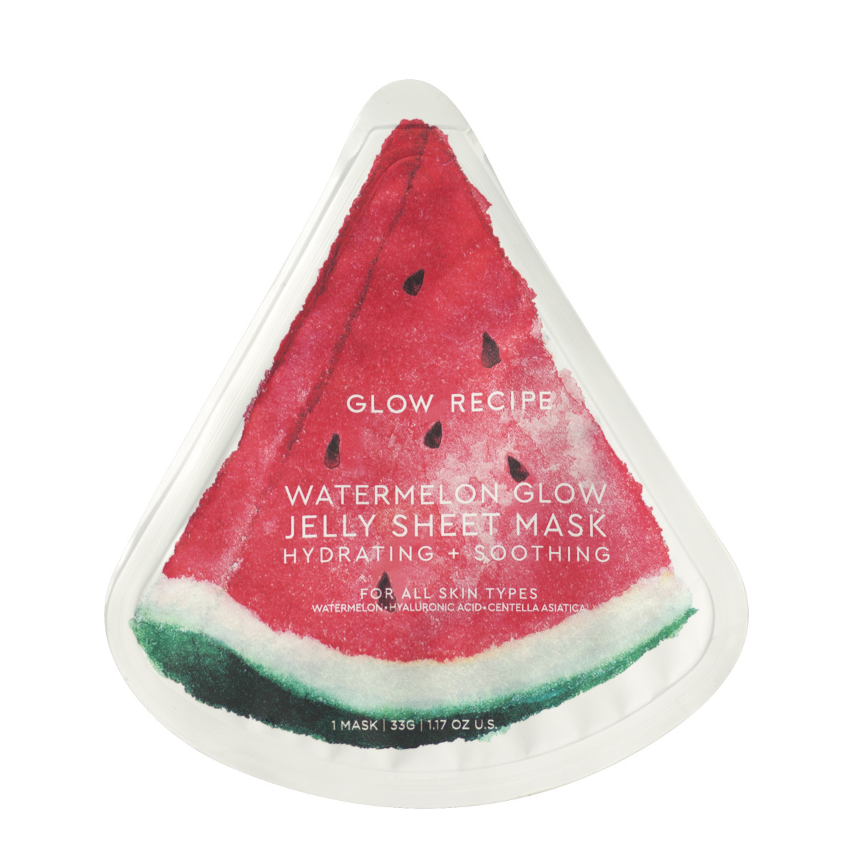 The Glow Recipe Watermelon Jelly Sheet Mask. Photo: Courtesy of Glow Recipe